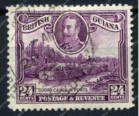 Изображение Британская Гвиана 1934-51 гг. Gb# 294 • 24c. Загрузка сахарного тростника в баржи • Used F (кат. - £11.00 )