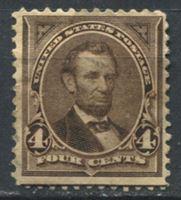 Image de США 1895г. SC# 269  • 4 c. Авраам Линкольн •   стандарт • Mint NG VG ( кат.- $45 )