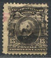 Image de США 1902-3 гг.  SC# 308  • 13 c. Бенджамин Гаррисон •  Used VG ( кат.- $11 )