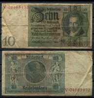 Bild von Германия  1929г.  P# 180 • 10 рейхсмарок •  регулярный выпуск • VG+