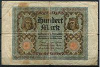 Bild von Германия  1920г.  G  P# 69 • 100 марок •  регулярный выпуск • F-