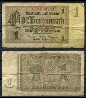 Изображение Германия 3-й рейх 1937 г. P# 173b • 1 рентенмарка • регулярный выпуск • F-