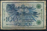 Изображение Германия 1908 г. P# 34 • 100 марок. зеленый номер • регулярный выпуск • F ( кат. - $10 )