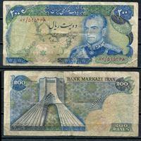 Изображение Иран 1974-79 гг. P# 103b • 200 риалов  Шах Пахлави • регулярный выпуск • F