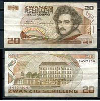 Изображение Австрия 1986 г. P# 148 • 20 шиллингов • регулярный выпуск • XF-