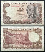 Bild von Испания 1970 г. P# 152 • 100 песет. Мануэль де Фалья • регулярный выпуск • XF+