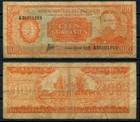 Изображение Парагвай 1952 г. P# 199b • 100 гуарани • регулярный выпуск • VG