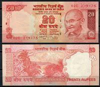Изображение Индия 2010 г. P# 96 • 20 рупий. Махатма Ганди • регулярный выпуск • UNC пресс
