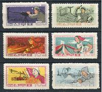 Picture of КНДР 1963 г. SC# 442-7 • Развитие промышленности • MNH OG VF • полн. серия