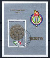 Изображение Куба 1975г. SC# 2002  • 7-е Панамериканские игры. •  Used(ФГ) VF • блок