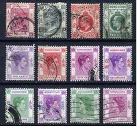 Изображение Гонконг • 1-я половина XX века SC# • 12 старинных марок до 10$ • стандарт • Used VF ( кат.- $50 )