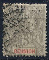 Picture of Реюньон  1900-5 гг.  Iv# 48  • 15c. •   стандарт • Used VF ( кат.- €3 )