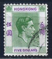 Image de Гонконг 1938-52 гг.  Gb# 160  • 5$. Георг VI •   стандарт • Used XF ( кат.- £18 )
