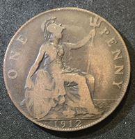 Изображение Великобритания 1912 г. • KM# 810 • 1 пенни • Георг V • F+