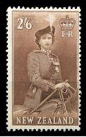 Изображение Новая Зеландия 1953-57 гг. SC# 298B • 2sh.6d. Елизавета II • стандарт • MLH OG VF ( кат.- $21 )