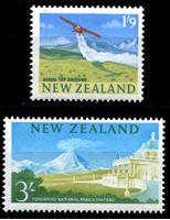 Изображение Новая Зеландия 1963-4 гг. SC# 360-1 • Виды страны • MNH OG XF • полн. серия ( кат.- $10 )