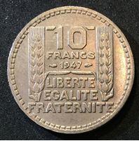 Изображение Франция 1947 г. • KM# 908.1 • 10 франков • регулярный выпуск • AU