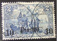 Image de Германия офисы в Турции 1905 г. Mi# 45 • Над. 10 пиастров на 2 мар. выпуска Германии 1905 г. • Used XF ( кат.- €60 )