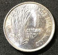 Изображение Бразилия 1975 г. • KM# 585 • 1 сентаво • регулярный выпуск • MS BU