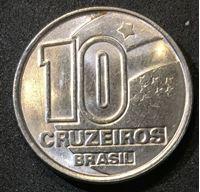 Picture of Бразилия 1990 г. • KM# 619.1 • 10 крузейро • регулярный выпуск • MS BU