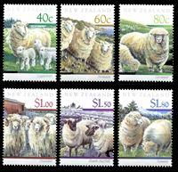 Bild von Новая Зеландия 1991 г. SC# 1014-19 • Овцы • MNH OG XF • полн. серия ( кат.- $9 )