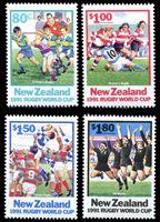 Bild von Новая Зеландия 1991 г. SC# 1054-7 • Регби, Чемпионат мира 1991 • MNH OG XF • полн. серия ( кат.- $8 )