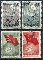 Изображение СССР 1938 г. Сол# 583-6 • Воздушная экспедиция на Северный Полюс • Used VF • полн. серия