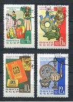 Изображение СССР  1963г. Сол# 2817-20  • Декоративно-прикладное искусство •  Used(ФГ) VF / полн. серия