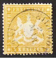 Picture of Вюртемберг 1860 г. Mi# 17х • Герб Вюртемберга. 3 кр. • Used VF-XF ( кат.- €12 )