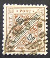 Изображение Вюртемберг 1917 г. Mi# 251 • Цифры в щите. 25 пф. • Used XF