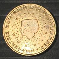 Изображение Нидерланды 2001 г. • KM# 239 • 50 евроцентов • регулярный выпуск • AU+