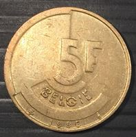 Image de Бельгия 1986г.  KM# 164 • 5 франков • AU+