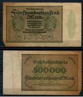 Изображение Германия 1923 г. P# 88b • 500 тыс. марок • регулярный выпуск • F-