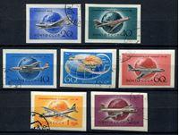 Изображение СССР 1958 г. Сол# 2182-8 • Гражданские самолеты б.з. • Used(ФГ) VF • полн. серия