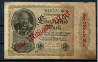 Bild von Германия 1923 г. P# 133 • 1 млрд. марок. зеленый № • регулярный выпуск • F