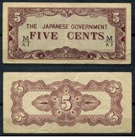 Bild von Малайя 1942 г. P# M2a • Японская оккупация. 5 центов • XF+