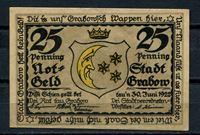 Picture of Германия •  Грабов 1922 г. • 25 пфеннигов • Поедание чипсов • локальный выпуск • UNC пресс