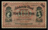 Picture of Саксония 1911 г. P# S953b • 500 марок. Саксонский Банк Дрездена • регулярный выпуск • XF-
