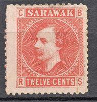 Image de 1875 г. Gb# 7 • Сэр Чарльз Брук • Mint NG F-VF ( кат.- £10 )