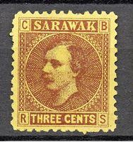 Image de 1871 г. Gb# 2 • Сэр Чарльз Брук • Mint NG F-VF ( кат.- £3 )
