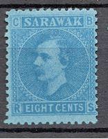 Image de 1875 г. Gb# 6 • Сэр Чарльз Брук • Mint NG F-VF ( кат.- £5 )