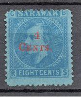 Изображение 1899 г. Gb# 35 • Сэр Чарльз Брук • Mint NG F-VF ( кат.- £8,5 )