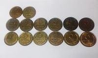 Изображение СССР 1961 - 1991 гг. • 5 копеек • 14 монет, разные, погодовка. • регулярный выпуск • VF-XF