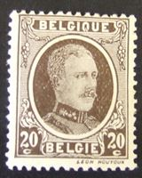 Изображение Бельгия 1922 г. Mi# 175 б • Король Альберт Первый. 20 ц. • MLH OG VF ( кат.- €2 )