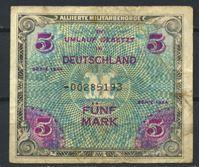 Bild von Германия 3-й рейх 1944 г. P# 193c • 5 марок • (оккупация союзных войск) дефис и F RARE!! • армейский чек • F+ ( кат. - $100 )