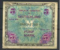 Изображение Германия 3-й рейх 1944 г. P# 193a • 5 марок • (оккупация союзных войск) • армейский чек • VF-