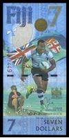 Изображение Фиджи 2017 г. • 7 долларов • Сборная по регби 7 - чемпион Олимпиады 2016г. • памятный выпуск • UNC пресс