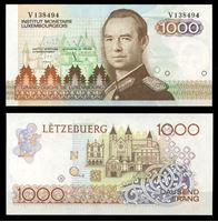 Изображение Люксембург 1985 г. P# 59 • 1000 франков • Великий герцог Жан • регулярный выпуск • UNC пресс