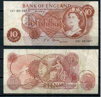 Изображение Великобритания 1966-70 гг. P# 373с • 10 шиллингов. • регулярный выпуск • XF-