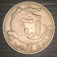 Picture of Гамбия 1971 г. • KM# 13 • 1 даласи • крокодил • регулярный выпуск • XF